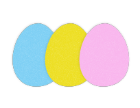 Easter Egg Foam Shapes (12)